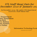 Dec 2020 Jan 2021 Staff Shout Outs
