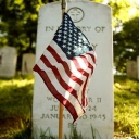 Memorial Day Flag and Grave