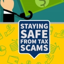 Staying safe from tax scams graphic