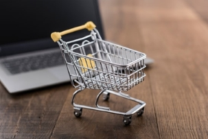 Shopping Cart and Computer